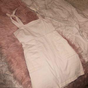 Express White Denim Dress